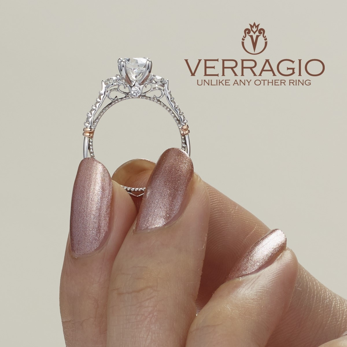 Verragio Parisian-124R Platinum Engagement Ring Alternative View 6