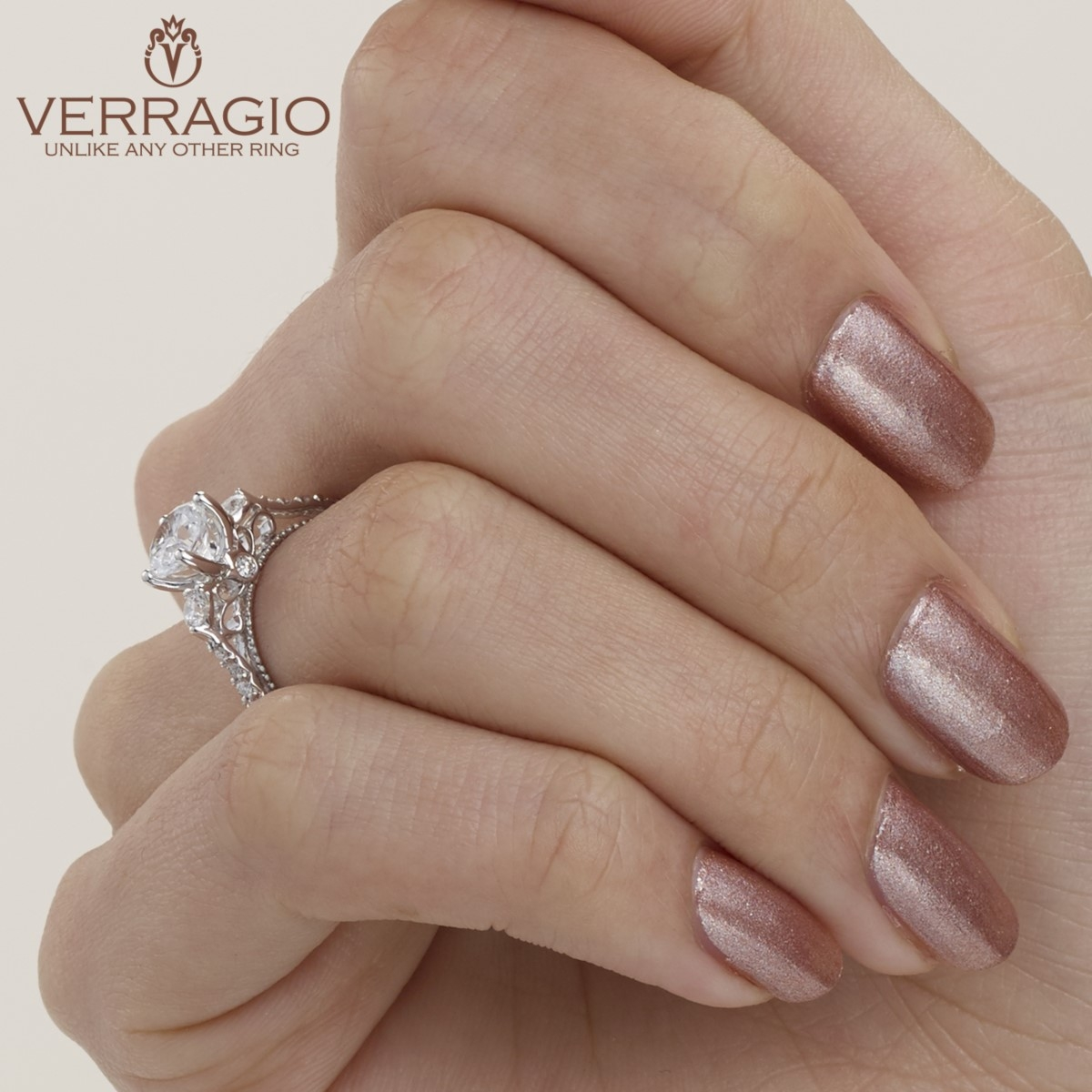 Verragio Parisian-124R Platinum Engagement Ring Alternative View 7