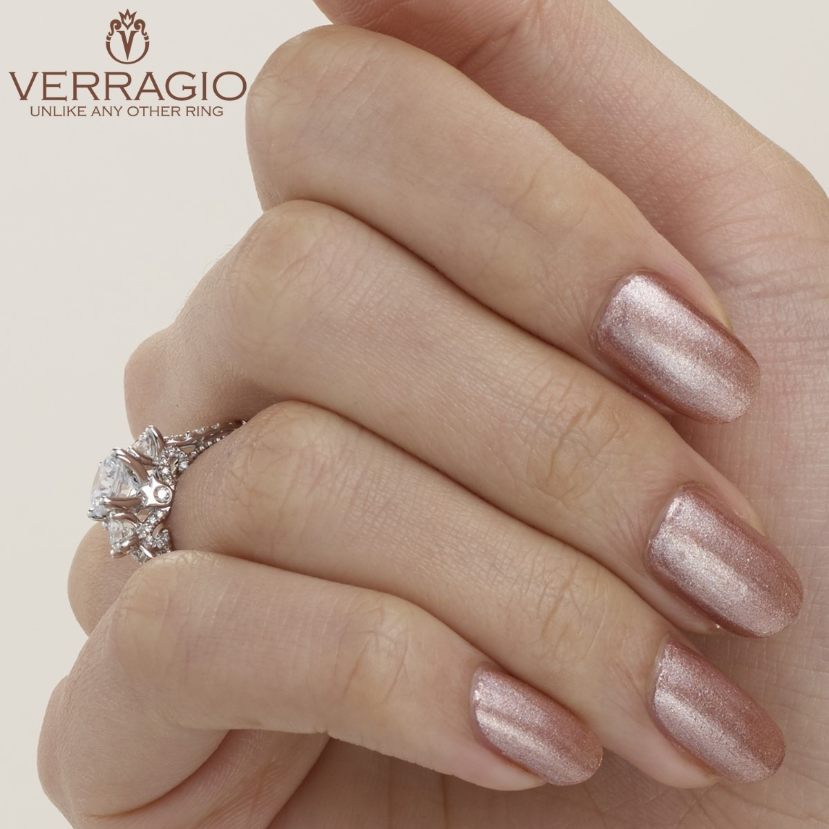Verragio Parisian-143R Platinum Engagement Ring Alternative View 3
