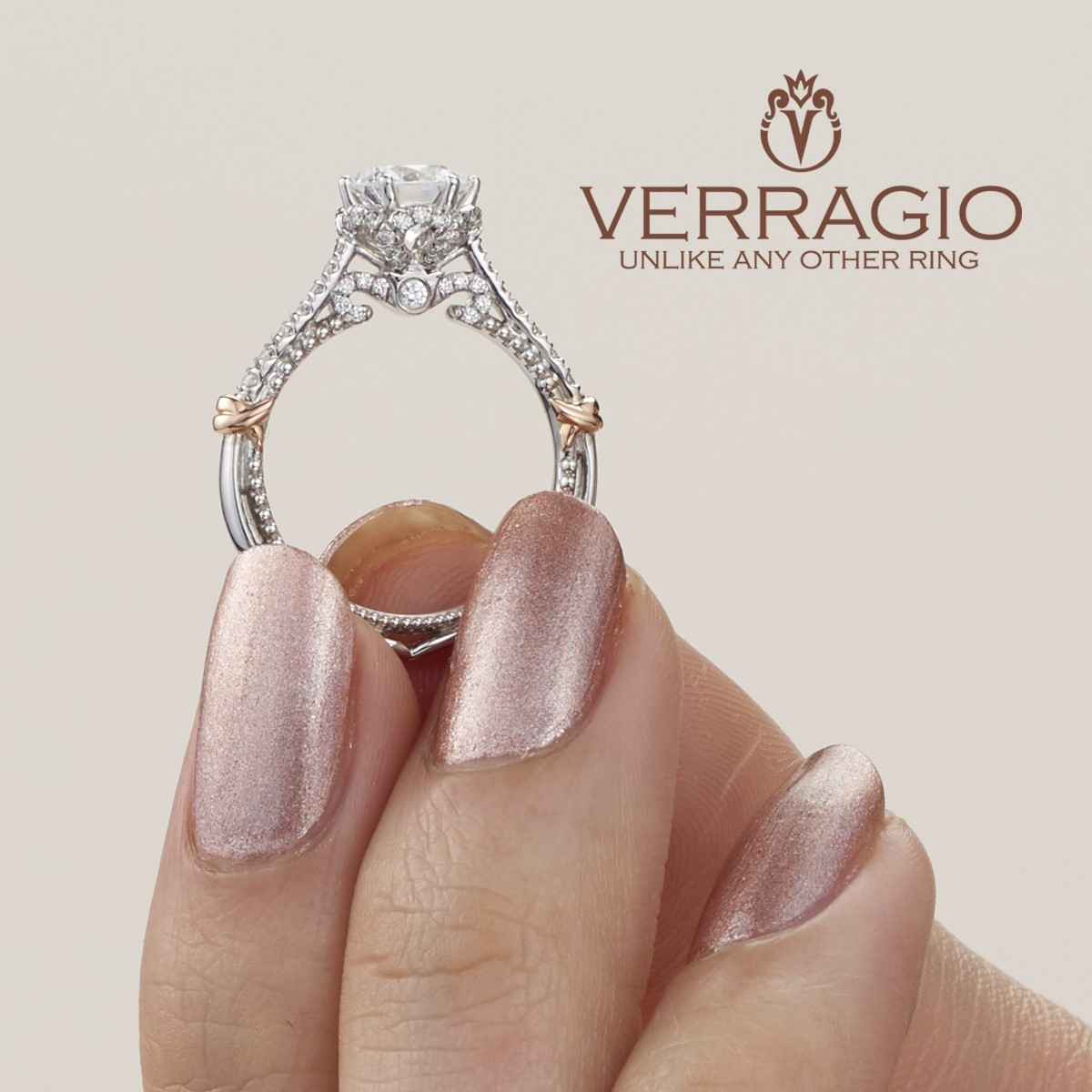 Verragio Parisian-144R 18 Karat Engagement Ring Alternative View 2