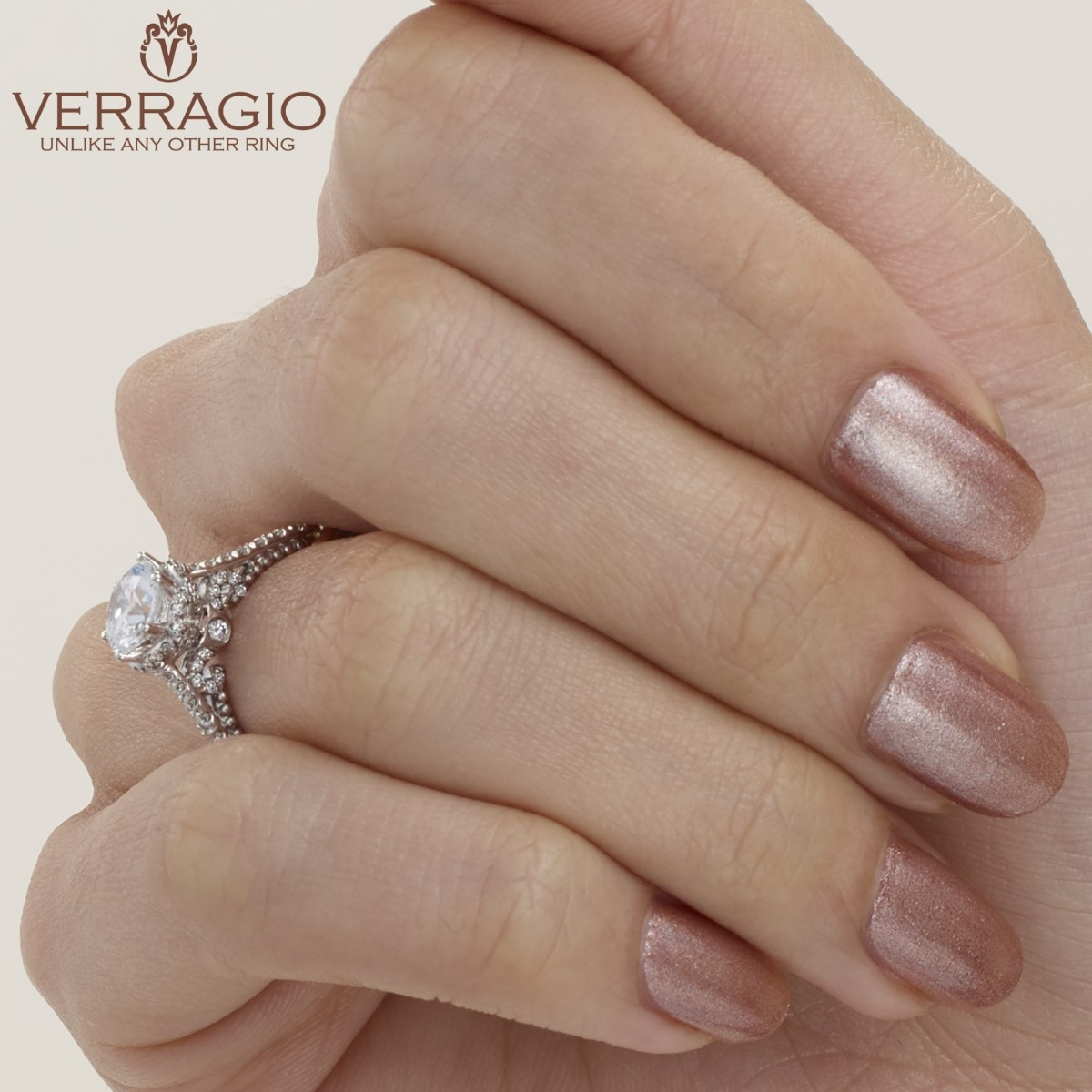 Verragio Parisian-144R Platinum Engagement Ring Alternative View 3