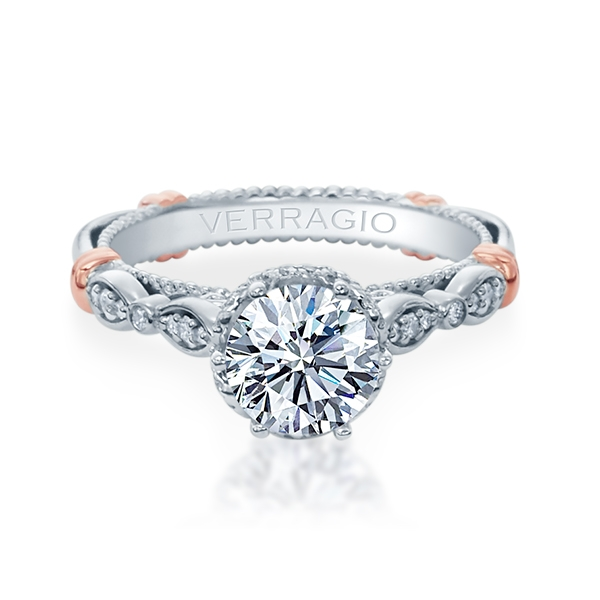 Verragio Parisian-151R Platinum Engagement Ring Alternative View 1