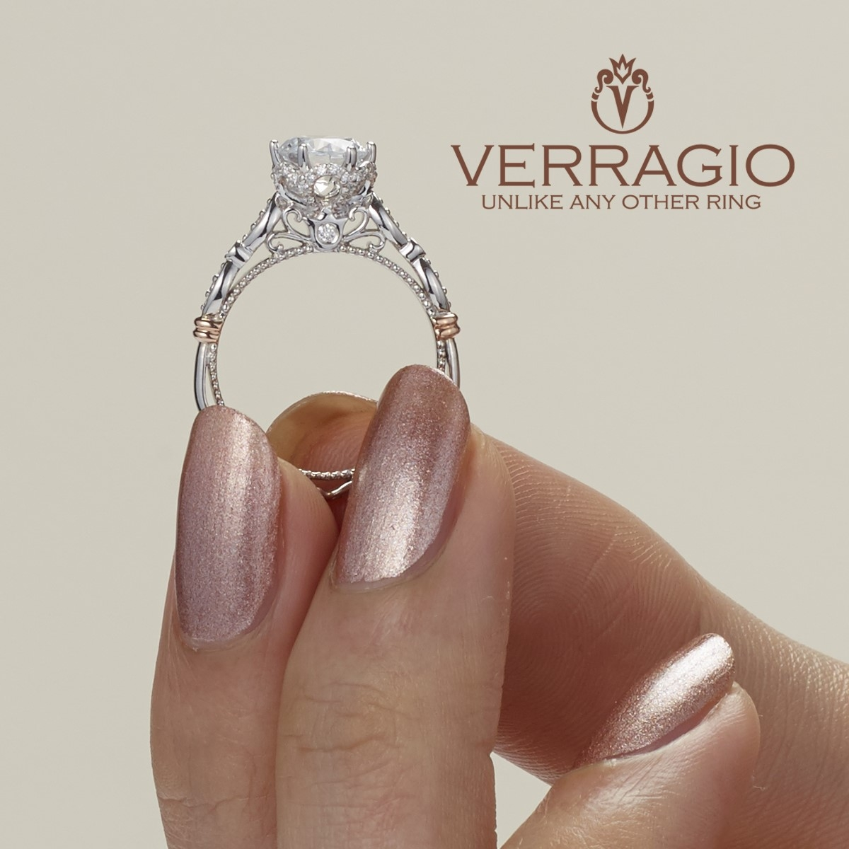 Verragio Parisian-151R Platinum Engagement Ring Alternative View 2