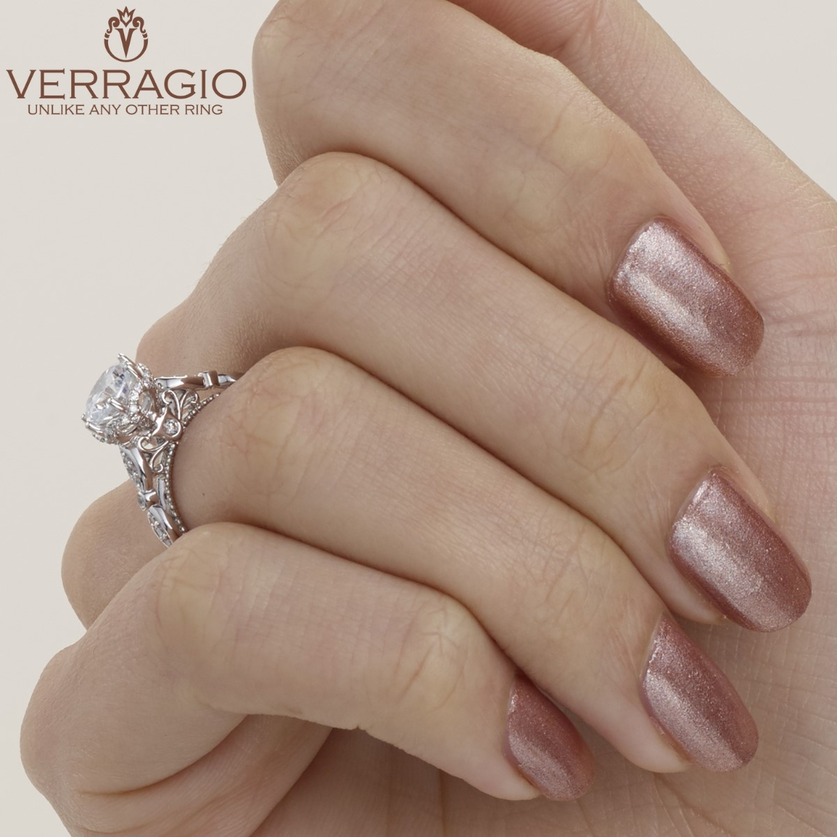 Verragio Parisian-151R Platinum Engagement Ring Alternative View 3