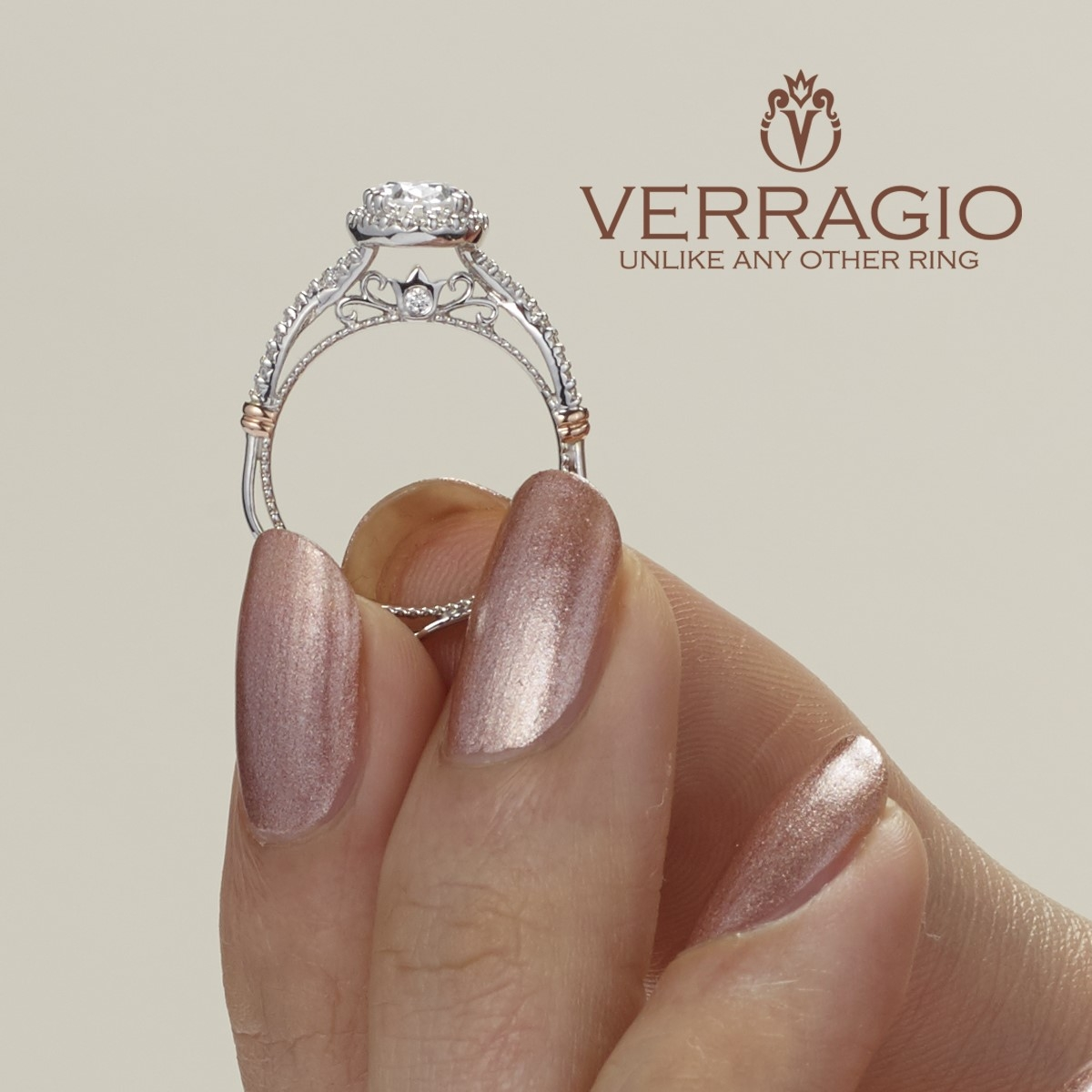 Verragio Parisian-152OV 14 Karat Engagement Ring Alternative View 1
