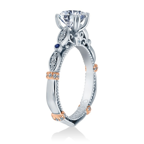Verragio Parisian-CL-DL100 Platinum Engagement Ring Alternative View 2