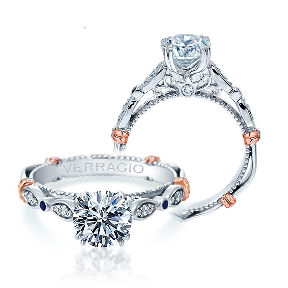 Verragio Parisian-CL-DL100 Platinum Engagement Ring