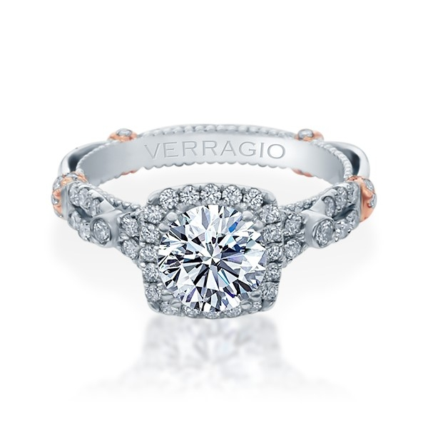 Verragio Parisian-DL109CU Platinum Engagement Ring Alternative View 1