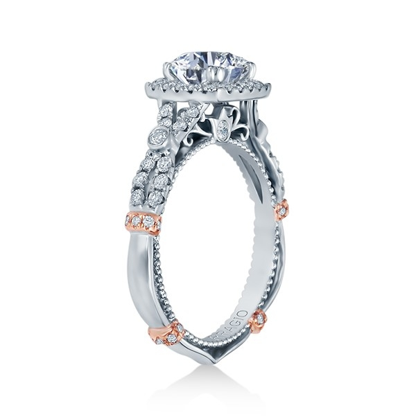 Verragio Parisian-DL109CU Platinum Engagement Ring Alternative View 2