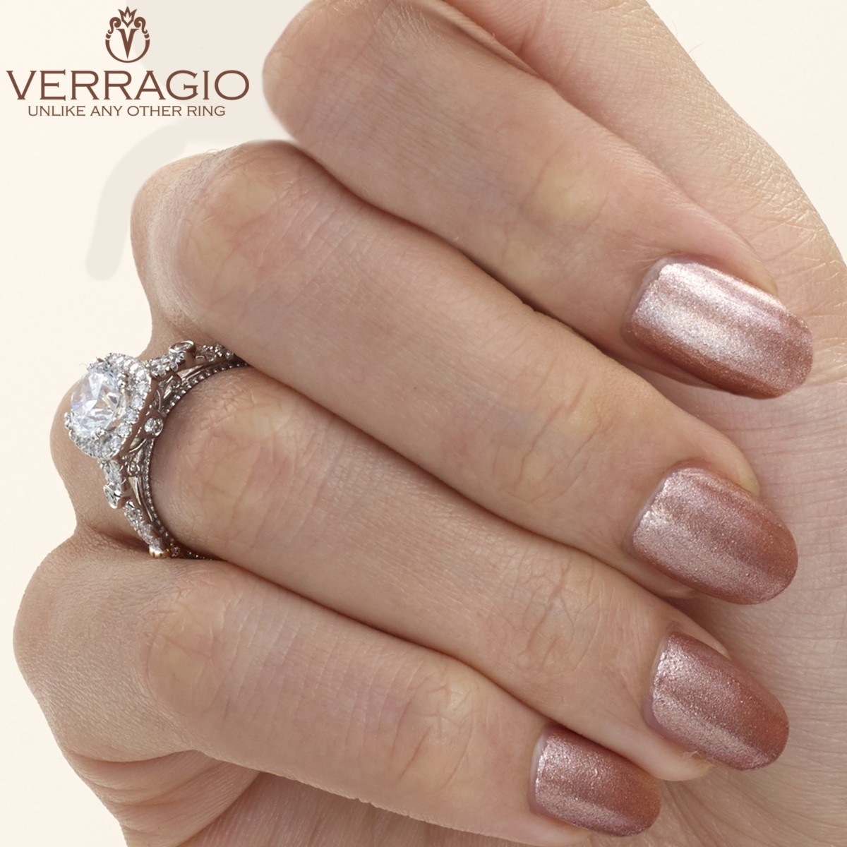 Verragio Parisian-DL109CU Platinum Engagement Ring Alternative View 7