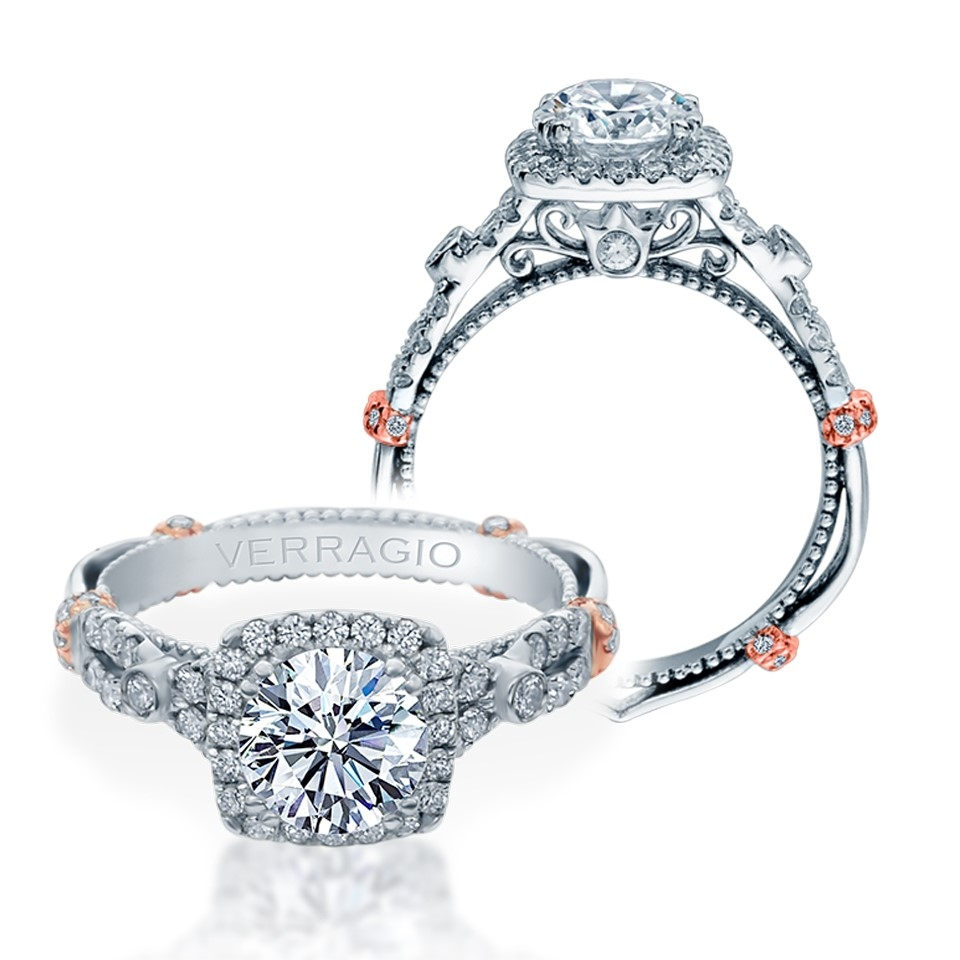 Verragio Parisian-DL109CU Platinum Engagement Ring