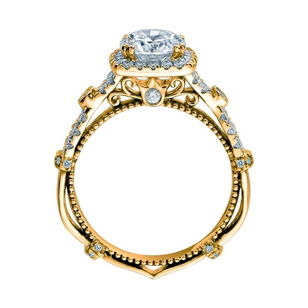 Verragio Parisian-DL109CU Platinum Engagement Ring Alternative View 4