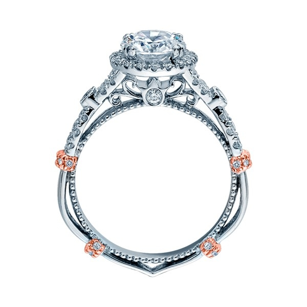 Verragio Parisian-DL109R Platinum Engagement Ring Alternative View 3