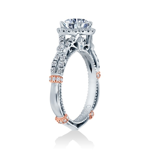 Verragio Parisian-DL109R Platinum Engagement Ring Alternative View 2