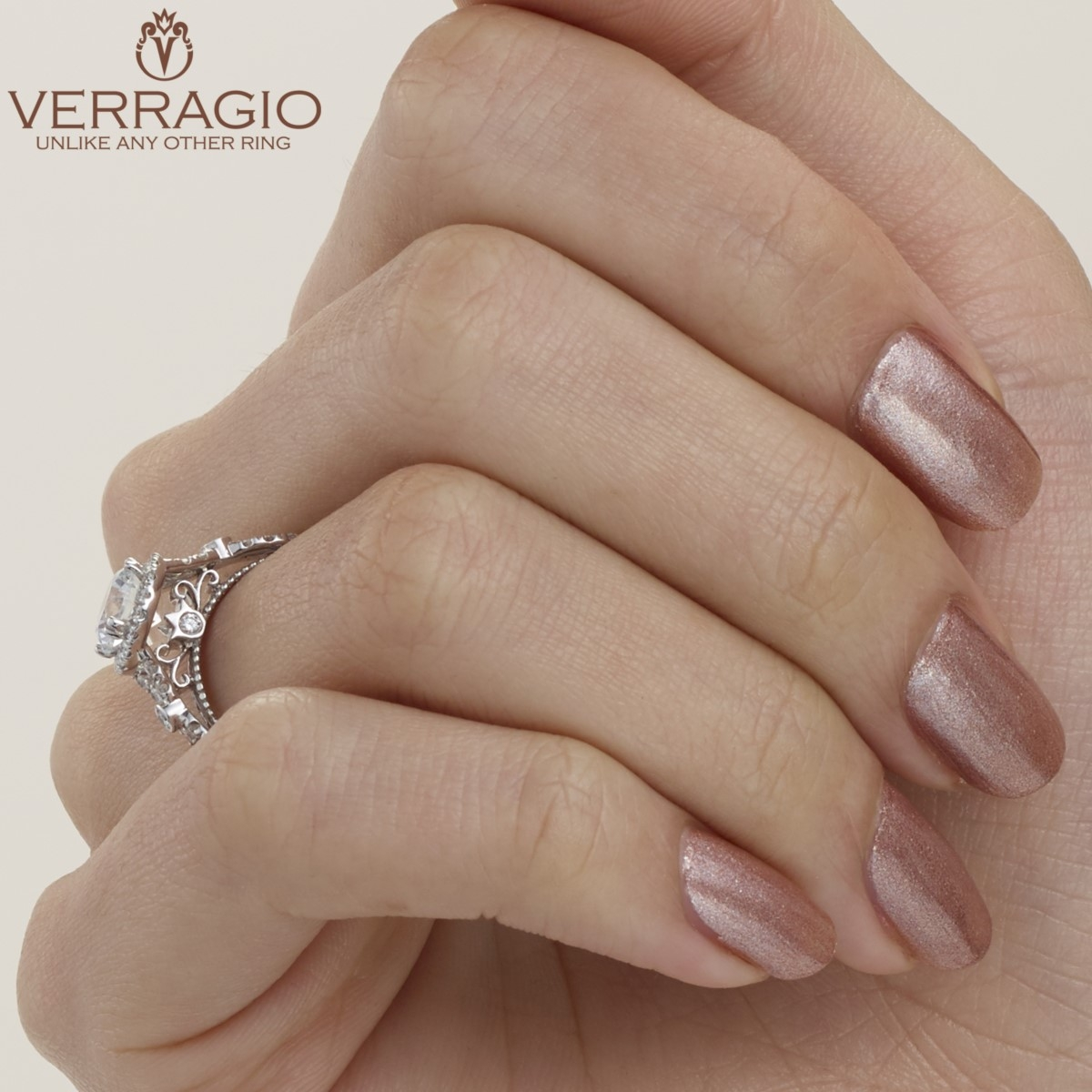 Verragio Parisian-DL109R Platinum Engagement Ring Alternative View 7
