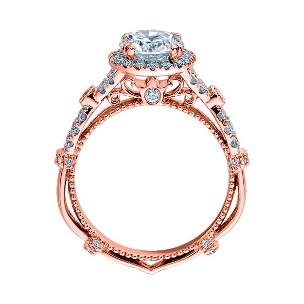 Verragio Parisian-DL109R Platinum Engagement Ring Alternative View 5