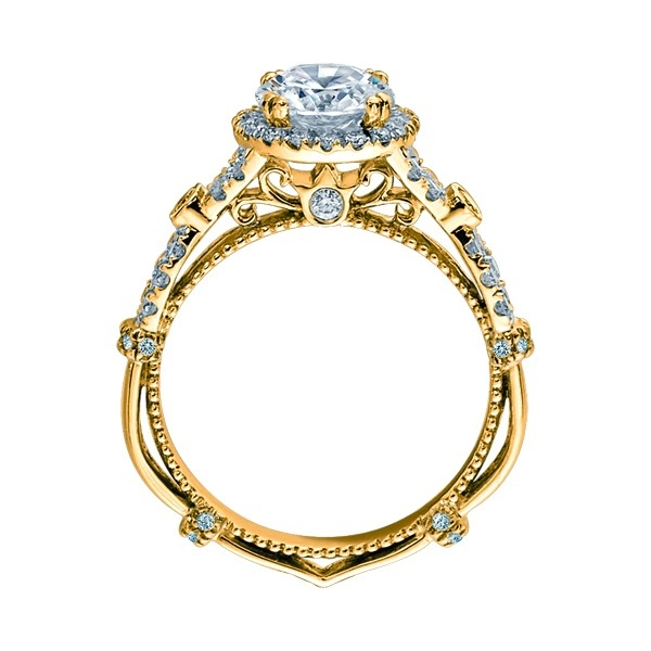 Verragio Parisian-DL109R Platinum Engagement Ring Alternative View 4