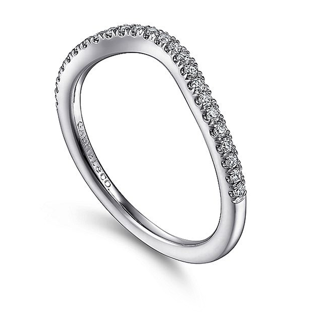 Gabriel 14 Karat White Gold Diamond Matching Wedding Band WB15609R4W44JJ Alternative View 2