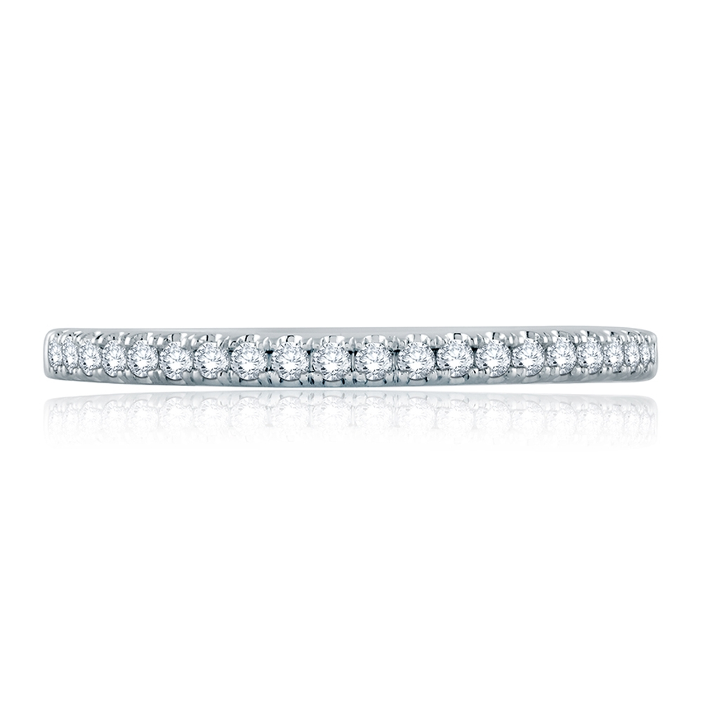 A.JAFFE Platinum Classic Diamond Stackable Ring WR1044 Alternative View 2