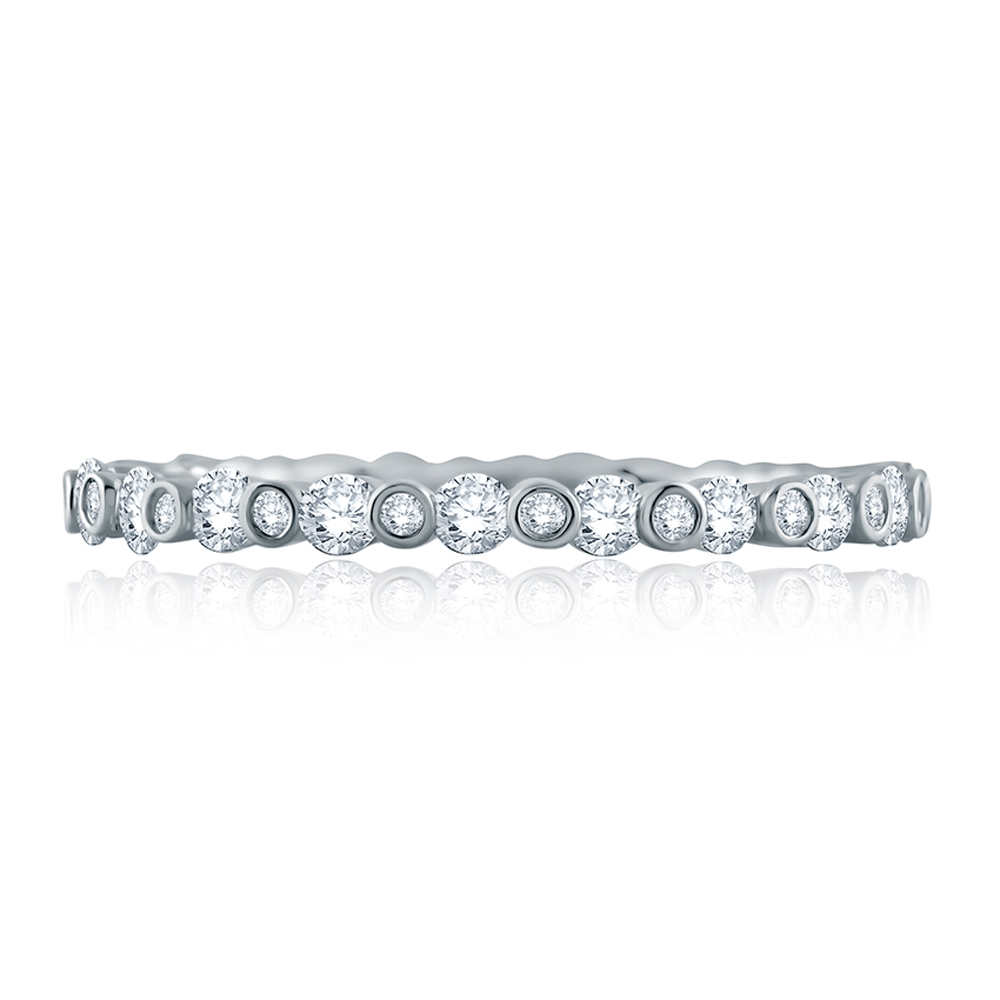 A.JAFFE Platinum Metropolitan Diamond Stackable Ring WR1048 Alternative View 2