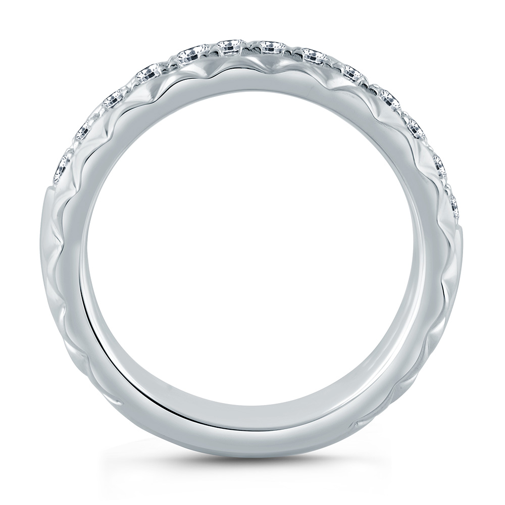 A.JAFFE Platinum Classic Diamond Wedding / Anniversary Ring WR1059Q Alternative View 1