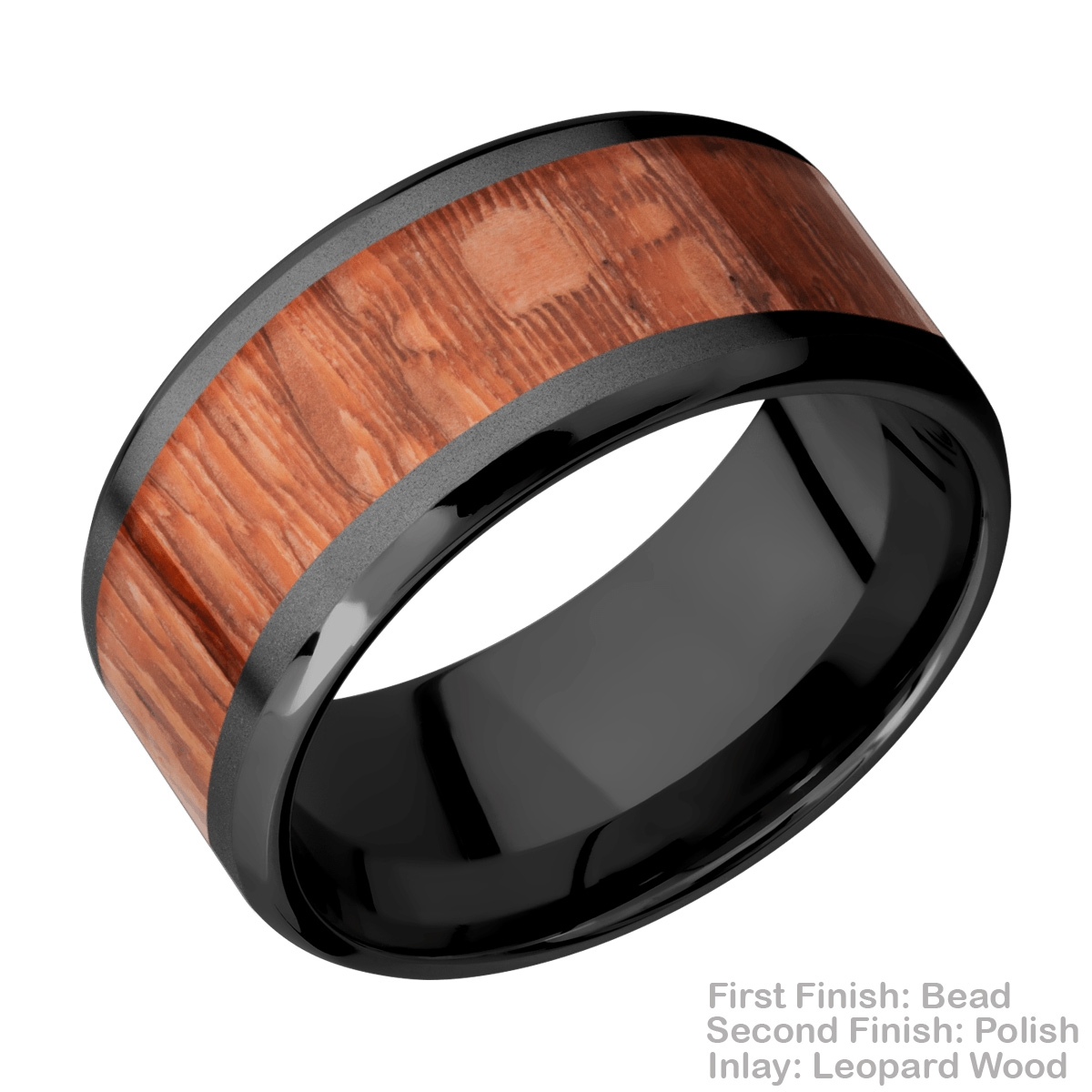 Lashbrook Z10B17(NS)/HARDWOOD Zirconium Wedding Ring or Band Alternative View 4