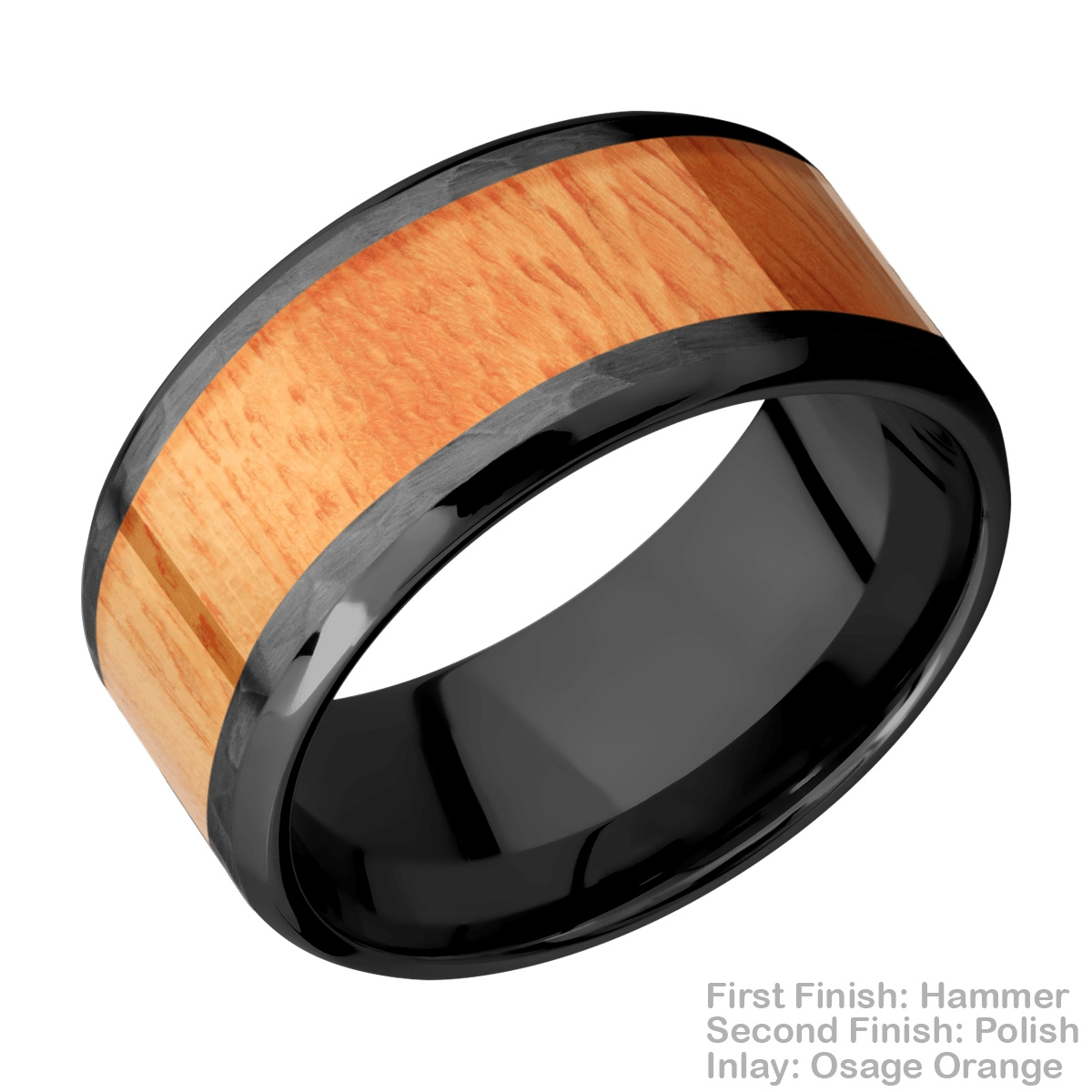Lashbrook Z10B17(NS)/HARDWOOD Zirconium Wedding Ring or Band Alternative View 5