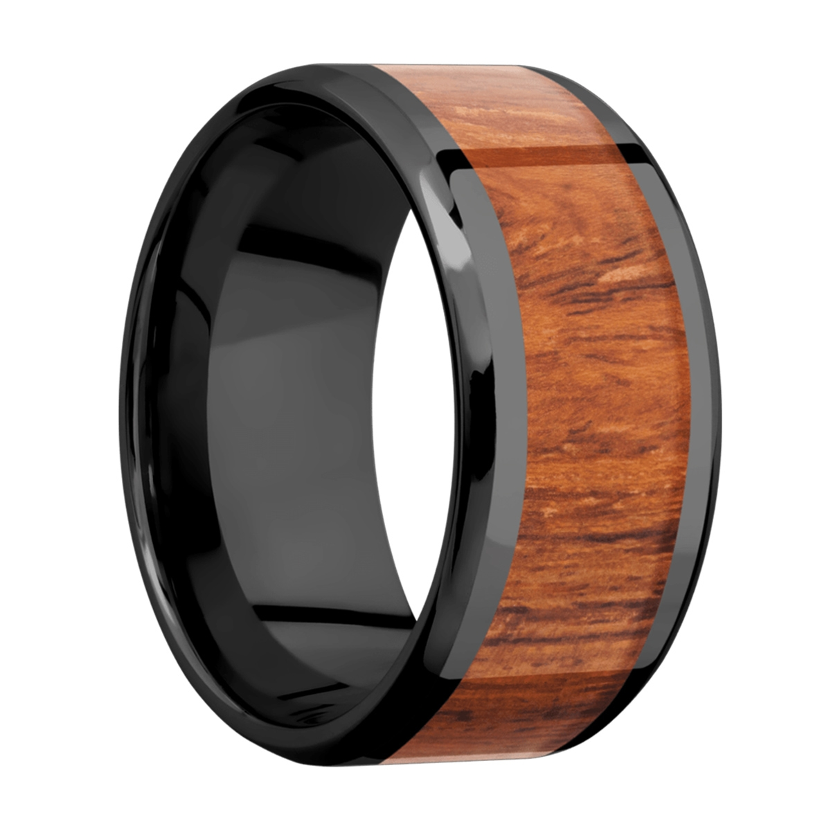 Lashbrook Z10B17(NS)/HARDWOOD Zirconium Wedding Ring or Band Alternative View 1