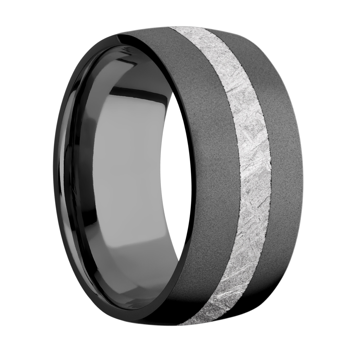 Lashbrook Z10D13/METEORITE Zirconium Wedding Ring or Band Alternative View 1