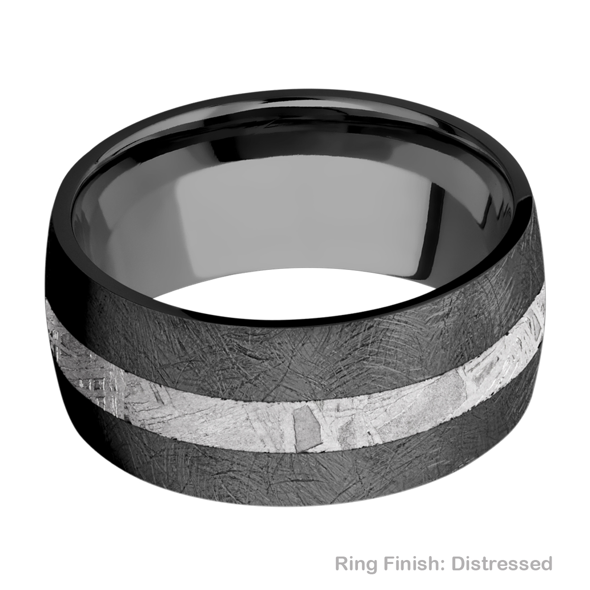 Lashbrook Z10D13/METEORITE Zirconium Wedding Ring or Band