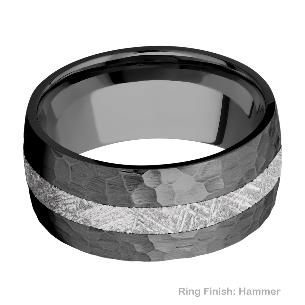 Lashbrook Z10D13/METEORITE Zirconium Wedding Ring or Band Alternative View 6