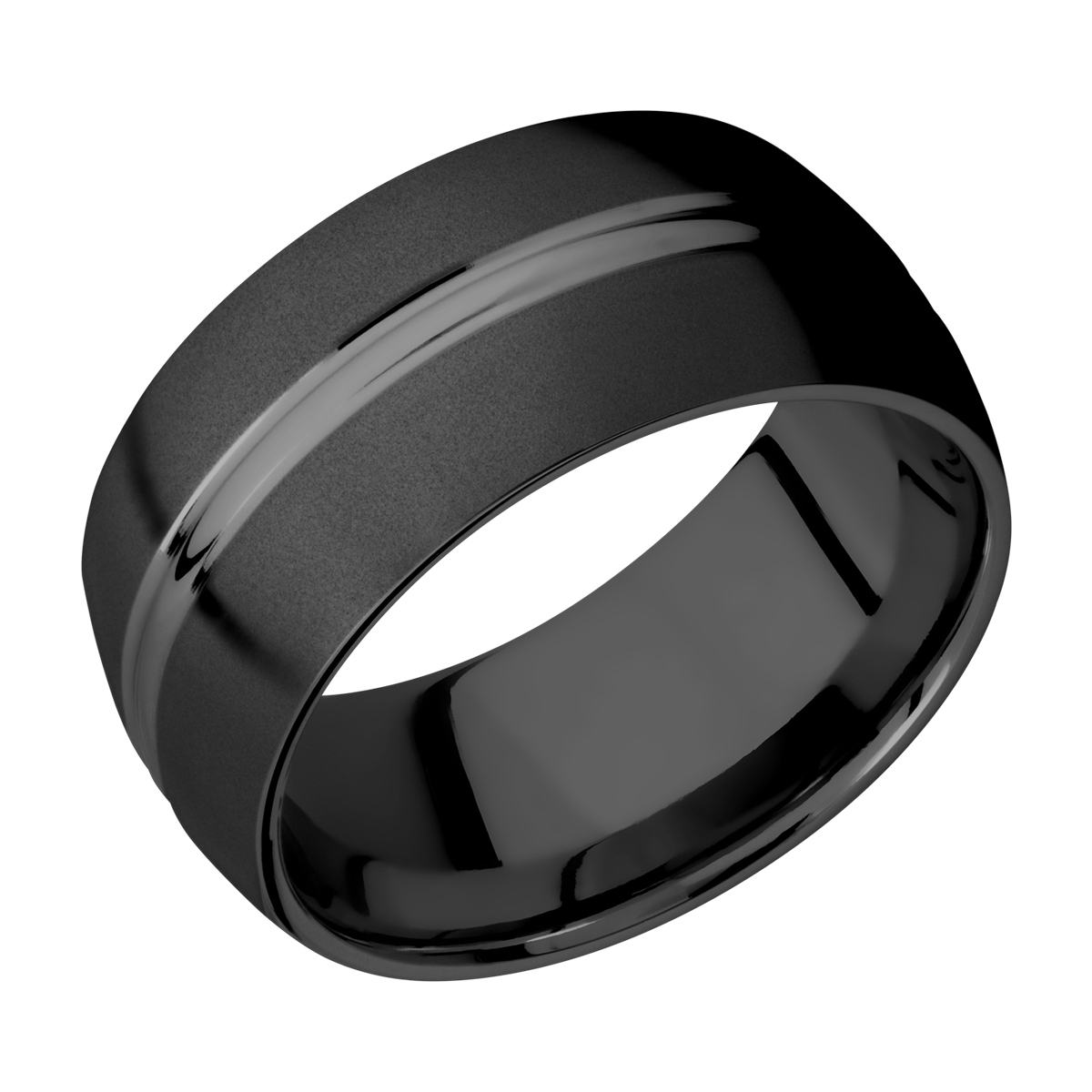 Lashbrook Z10DD Zirconium Wedding Ring or Band