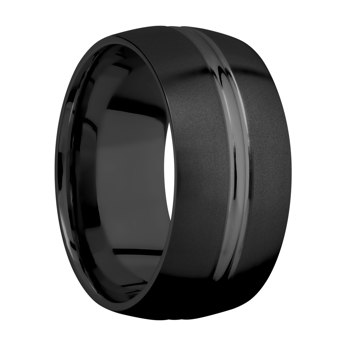 Lashbrook Z10DD Zirconium Wedding Ring or Band Alternative View 1