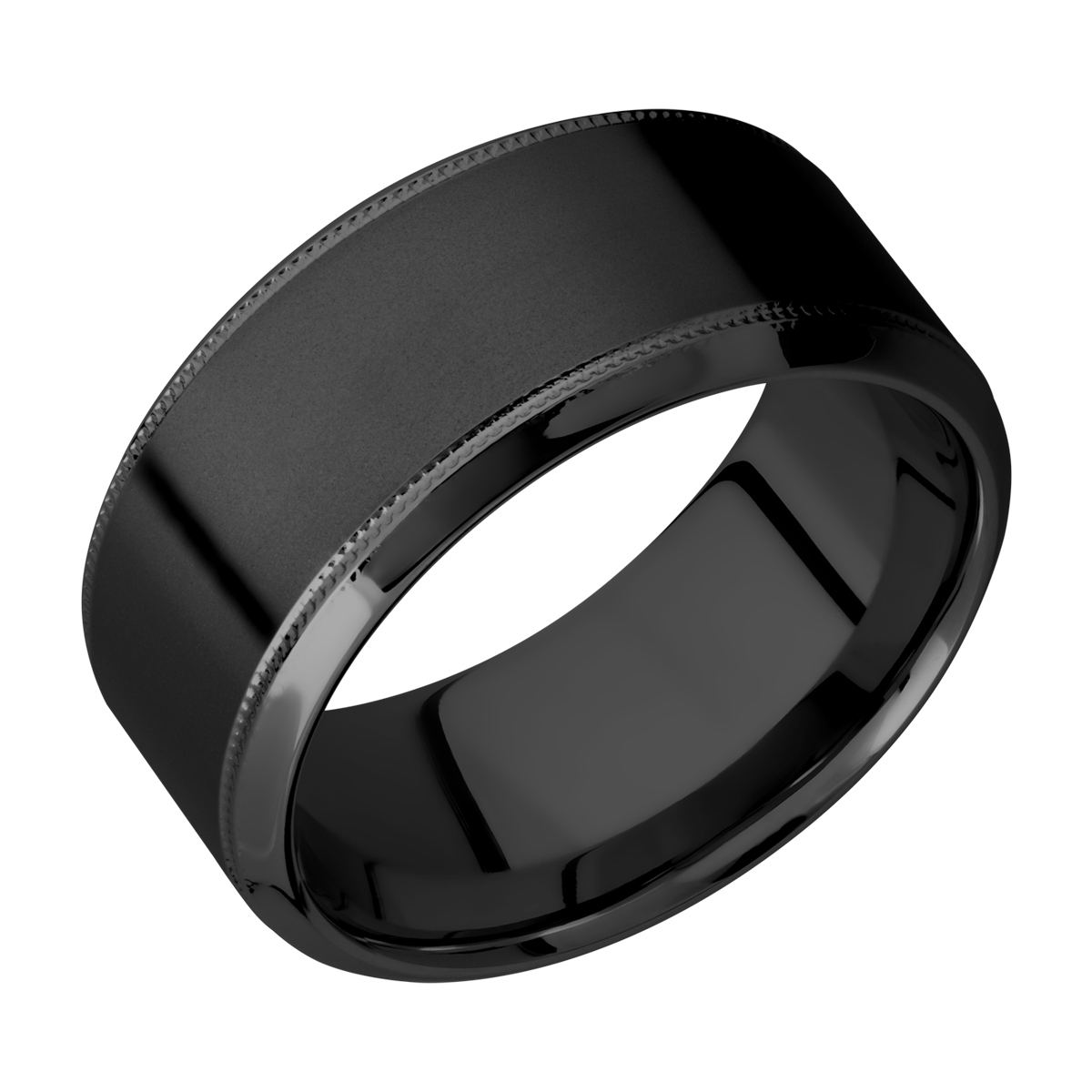 Lashbrook Z10HB2UMIL Zirconium Wedding Ring or Band