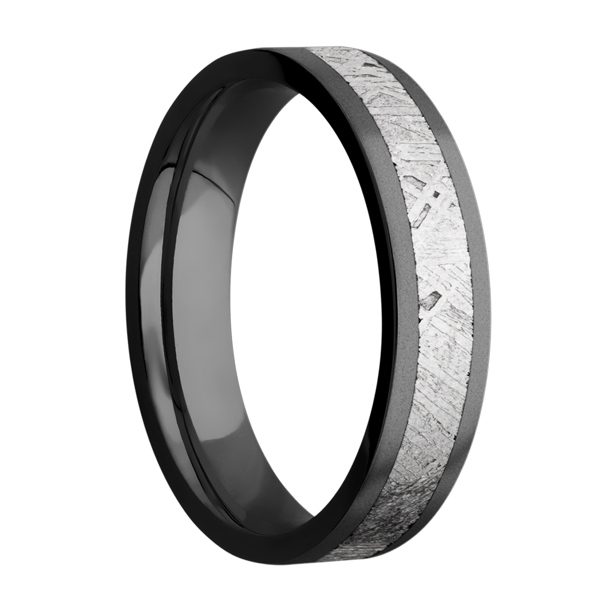 Lashbrook Z5F13/METEORITE Zirconium Wedding Ring or Band Alternative View 1