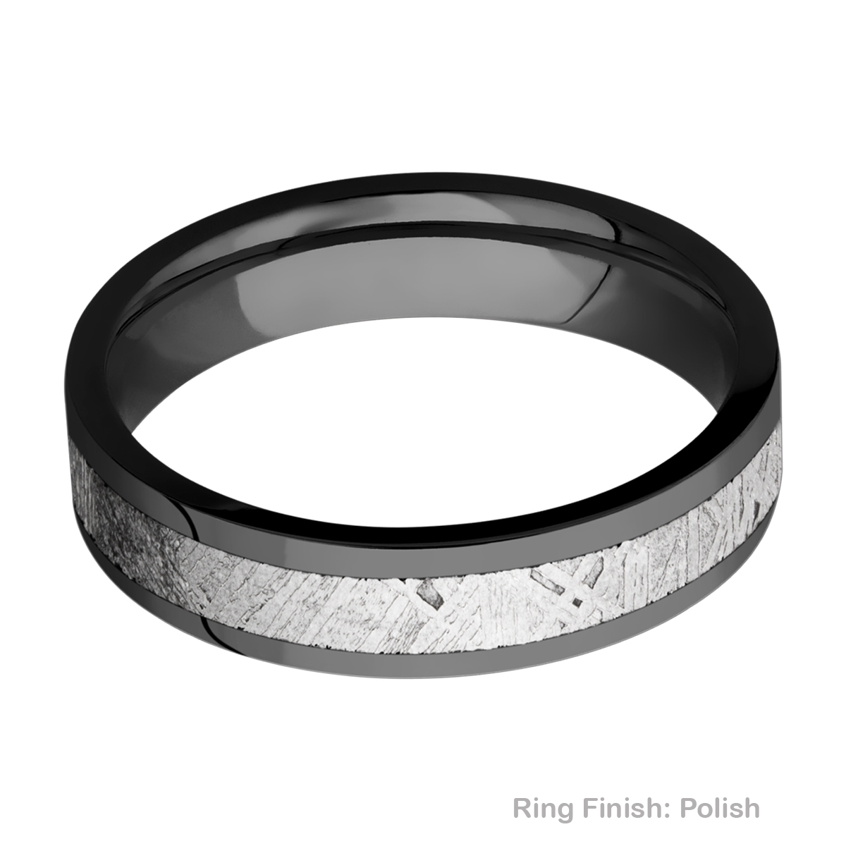Lashbrook Z5F13/METEORITE Zirconium Wedding Ring or Band Alternative View 3