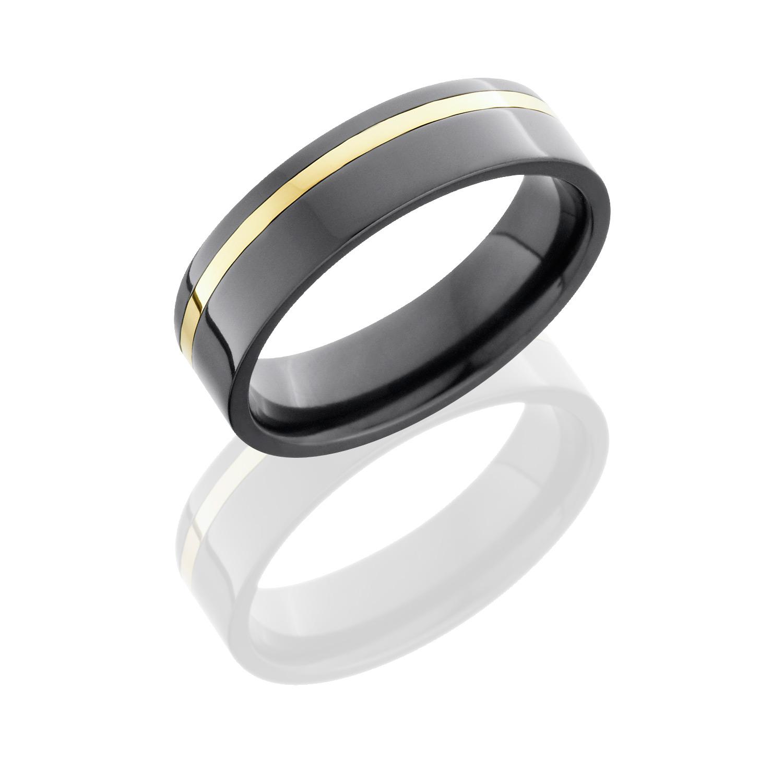 Lashbrook Z6F11OC-14KY Polish Zirconium Wedding Ring Or