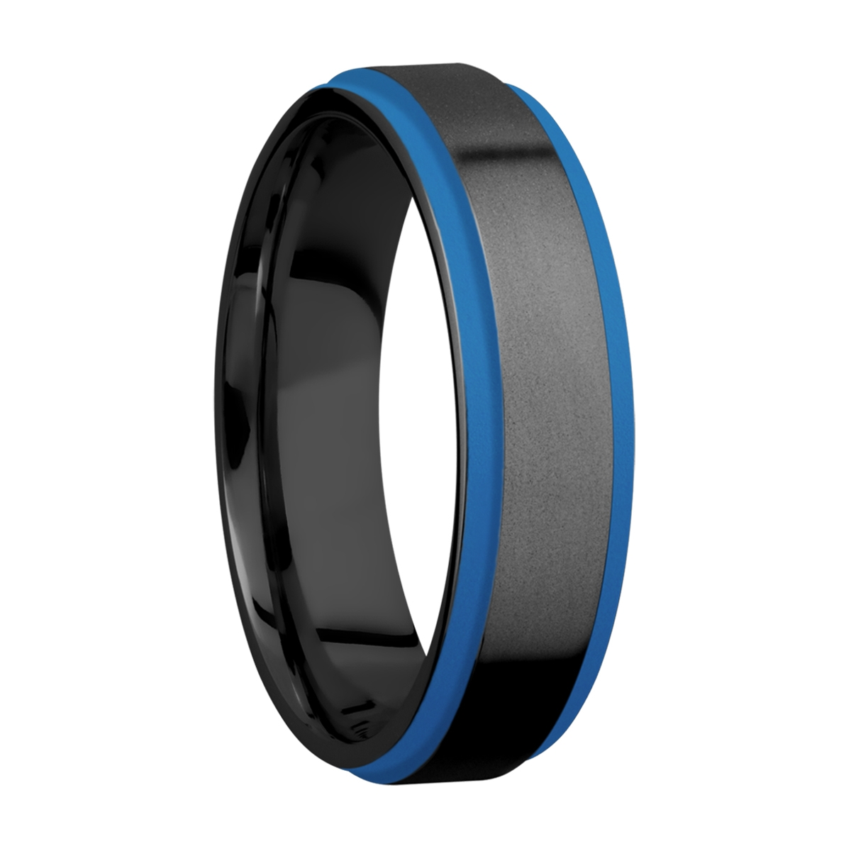 Lashbrook Z6FGE21EDGE/A/CERAKOTE Zirconium Wedding Ring or Band Alternative View 1