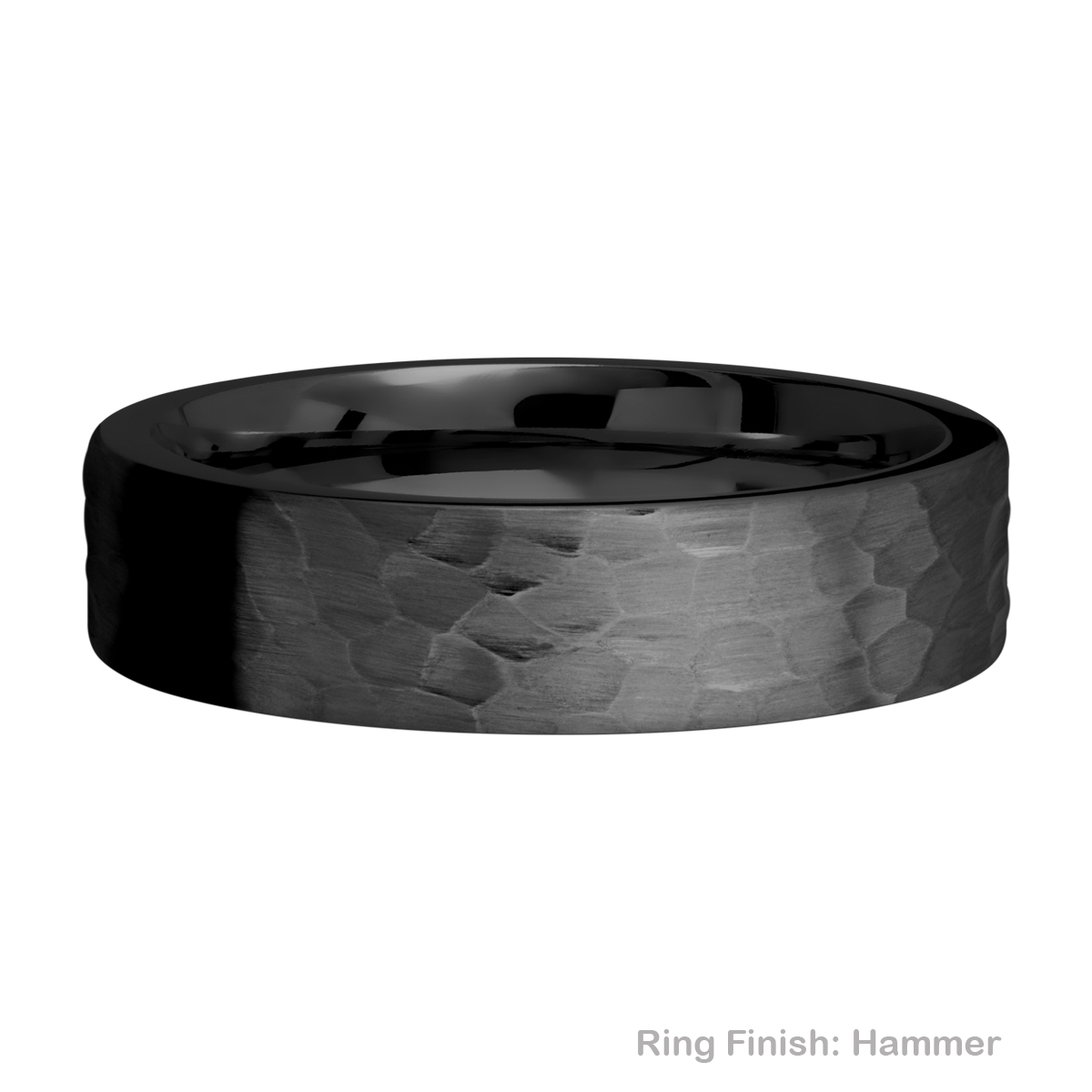 Lashbrook Z6FR Zirconium Wedding Ring or Band Alternative View 8