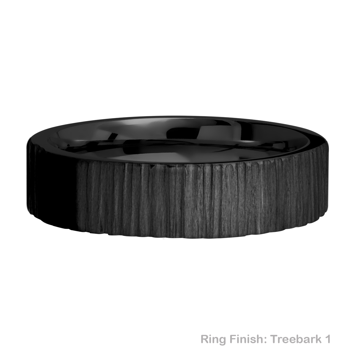Lashbrook Z6FR Zirconium Wedding Ring or Band Alternative View 9