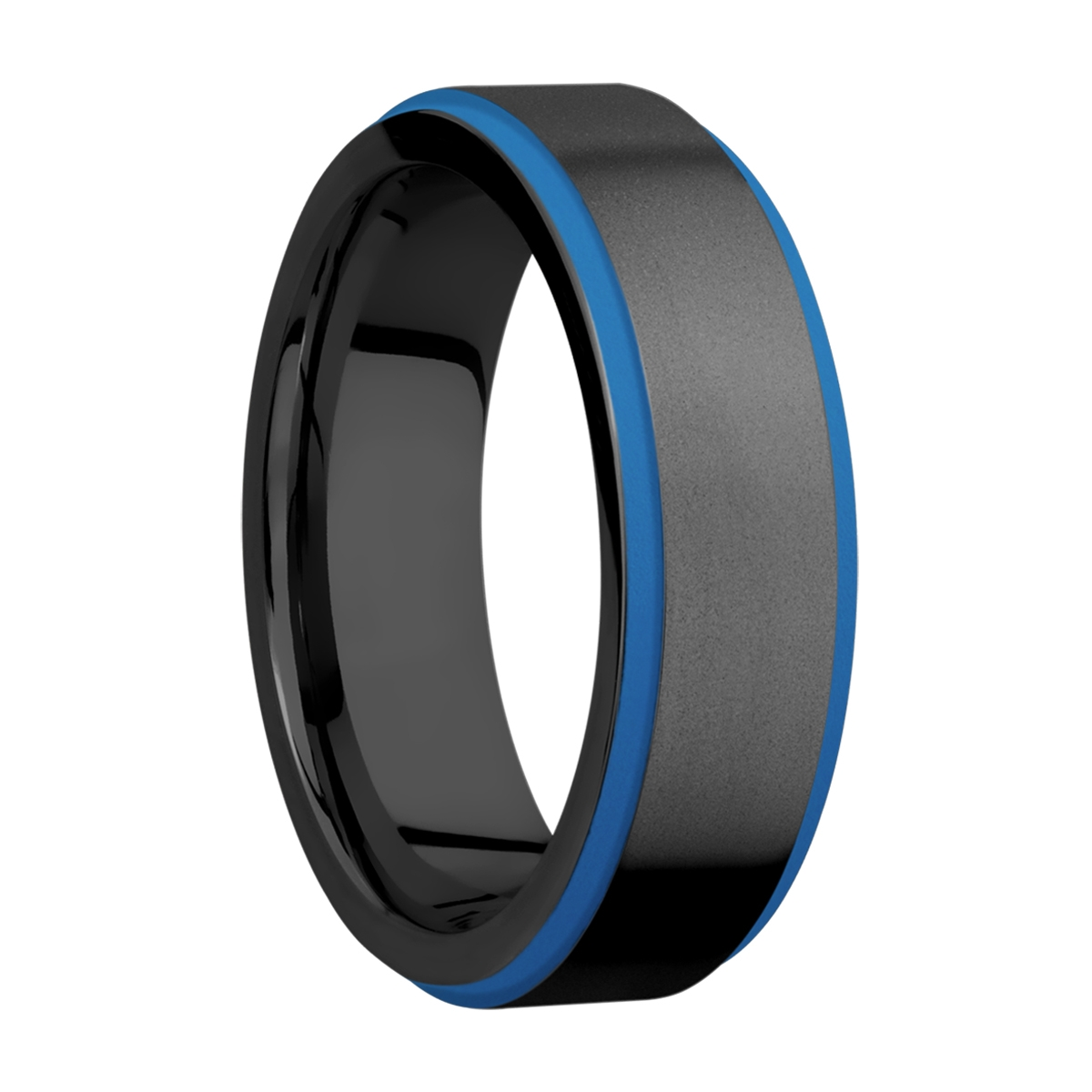 Lashbrook Z7FGE21EDGE/A/CERAKOTE Zirconium Wedding Ring or Band Alternative View 1