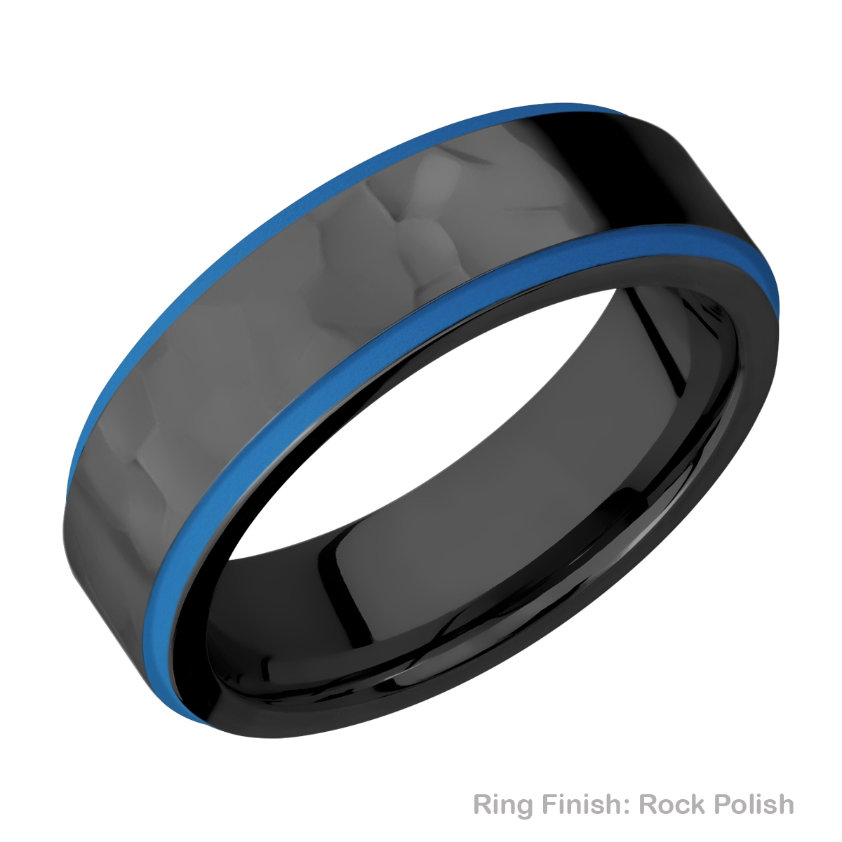 Lashbrook Z7FGE21EDGE/A/CERAKOTE Zirconium Wedding Ring or Band Alternative View 12