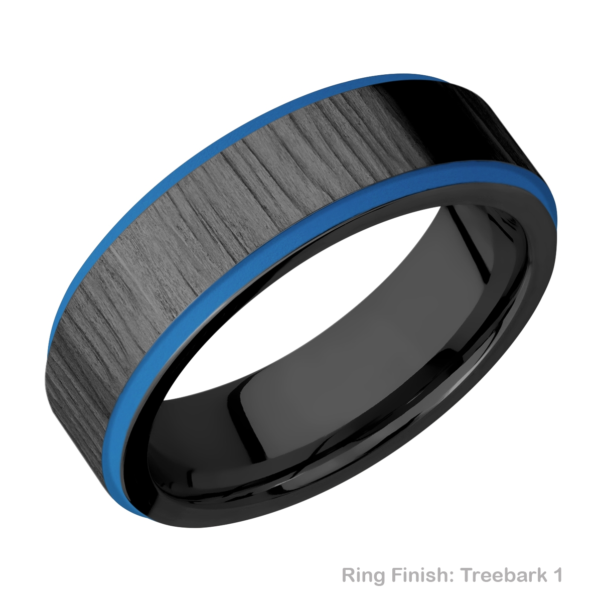 Lashbrook Z7FGE21EDGE/A/CERAKOTE Zirconium Wedding Ring or Band Alternative View 7
