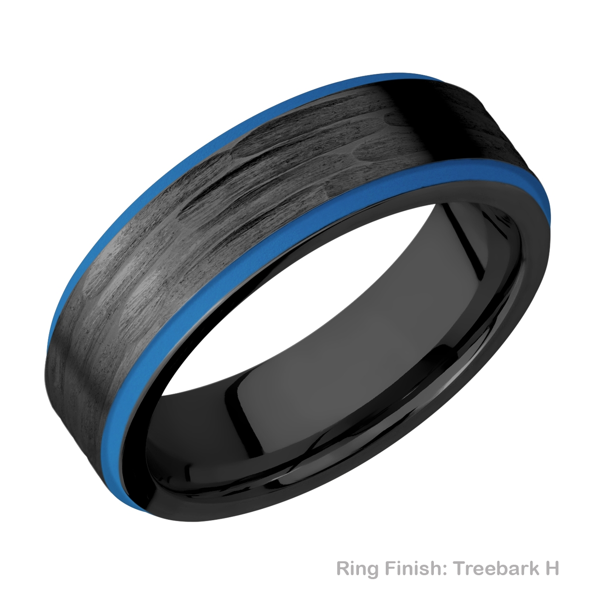 Lashbrook Z7FGE21EDGE/A/CERAKOTE Zirconium Wedding Ring or Band Alternative View 8