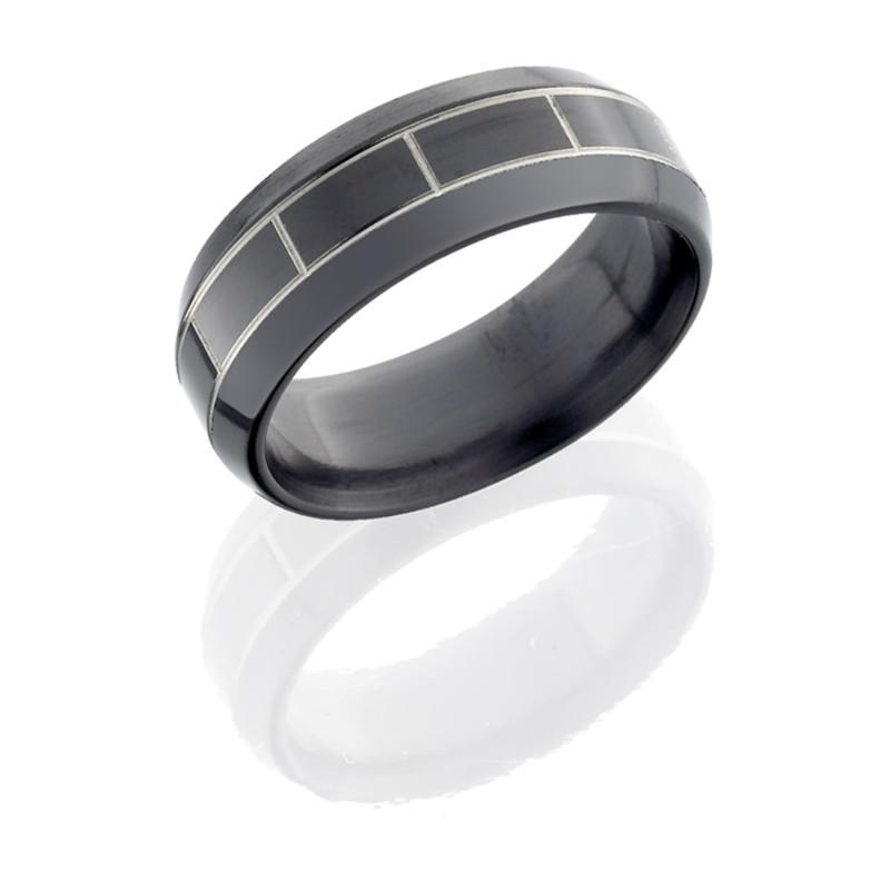 Lashbrook Z8B 031 POLISH Zirconium Wedding Ring Or Band
