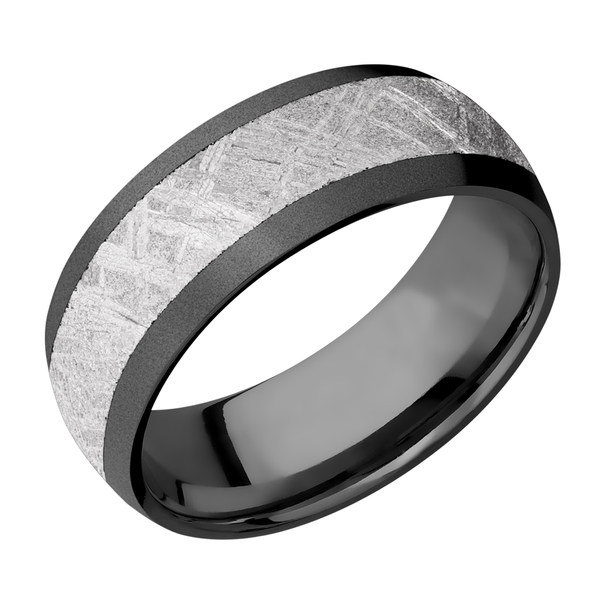 Lashbrook Z8D15/METEORITE Zirconium Wedding Ring or Band