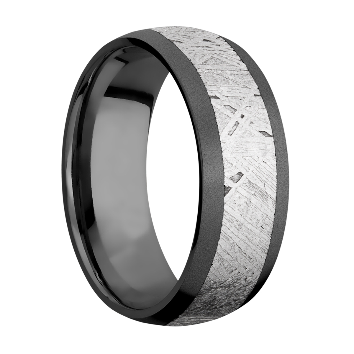 Lashbrook Z8D15/METEORITE Zirconium Wedding Ring or Band Alternative View 1