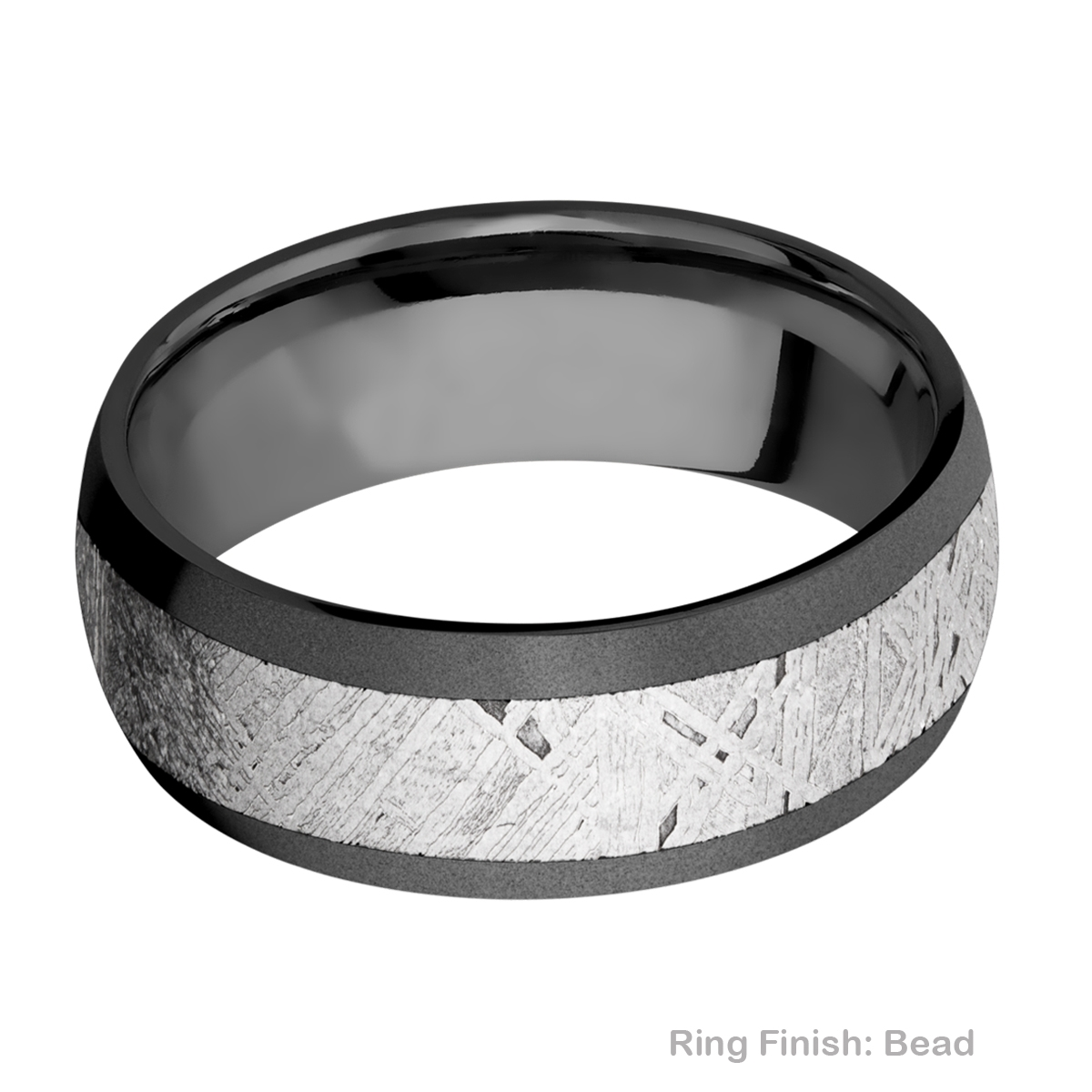 Lashbrook Z8D15/METEORITE Zirconium Wedding Ring or Band Alternative View 2
