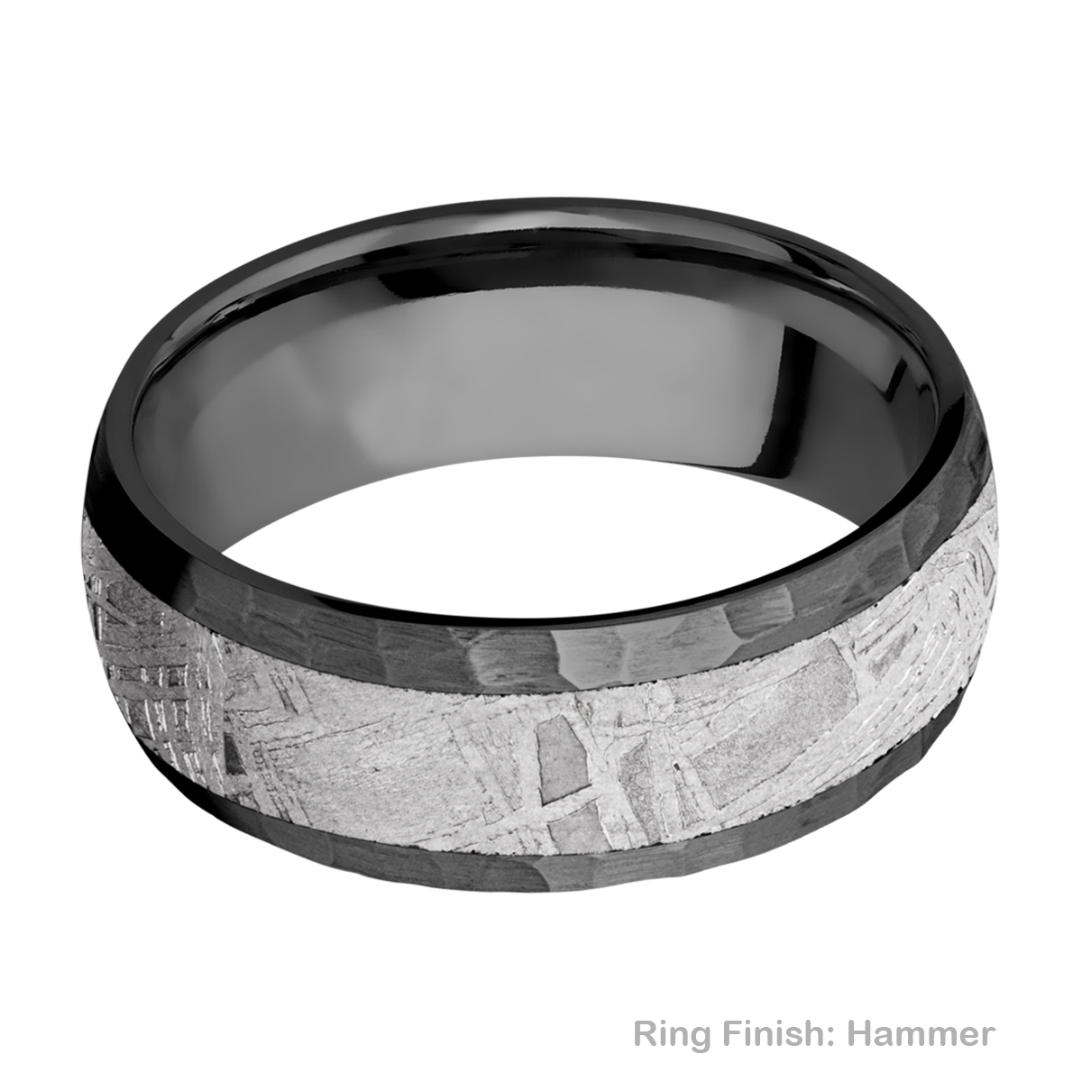 Lashbrook Z8D15/METEORITE Zirconium Wedding Ring or Band Alternative View 6