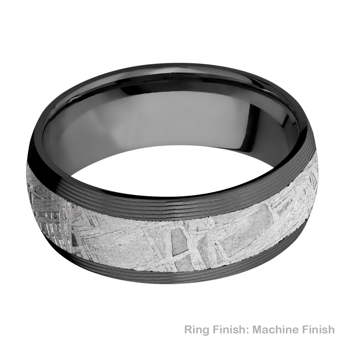 Lashbrook Z8D15/METEORITE Zirconium Wedding Ring or Band Alternative View 7